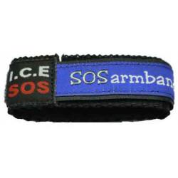 Notfallarmband blau Medium