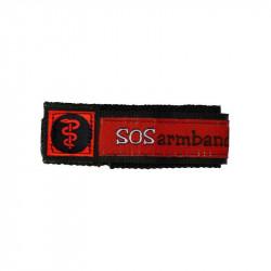 SOS Armband medizinisch Rot...